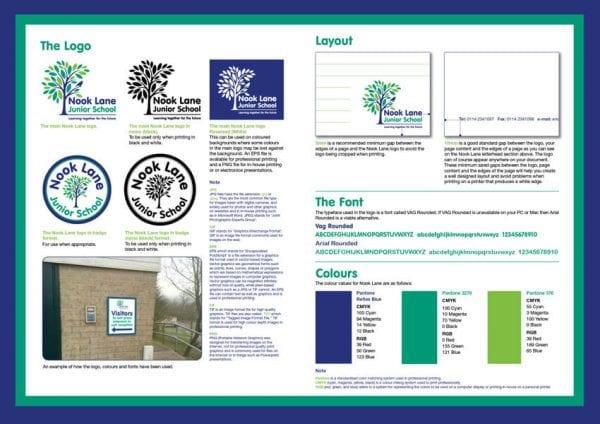 Junior school branding for Nook Lane