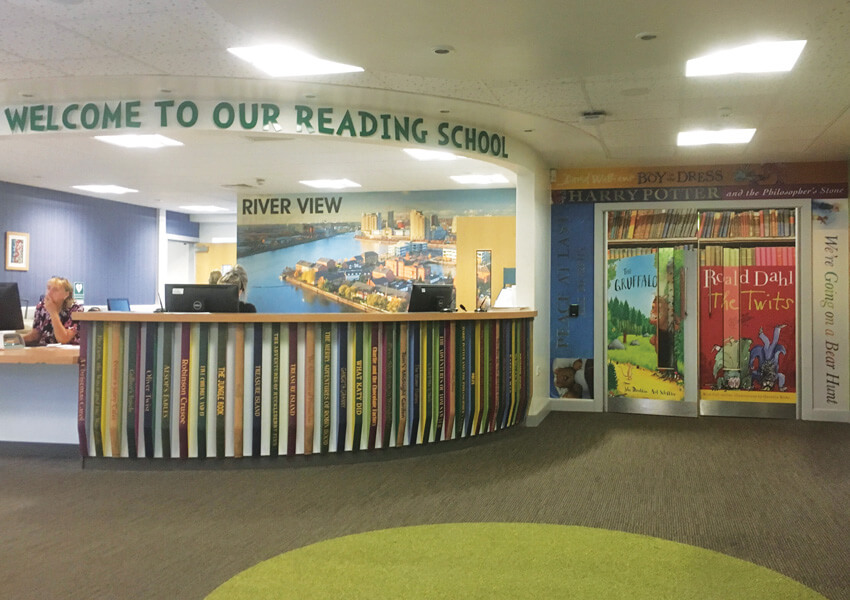 Celebrate reading with a stunning wall art – Riverview Primary Salford