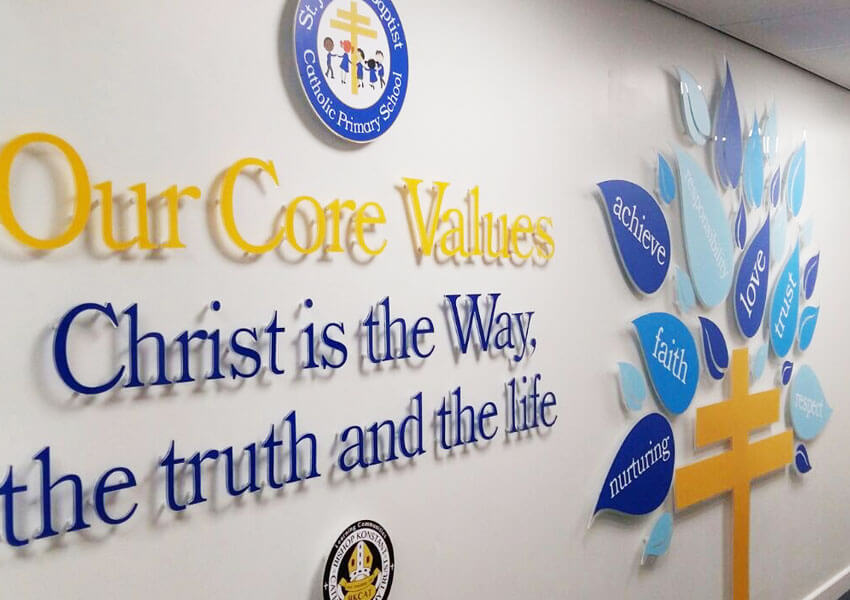 St John the Baptist Primary School expressed a catholic school ethos