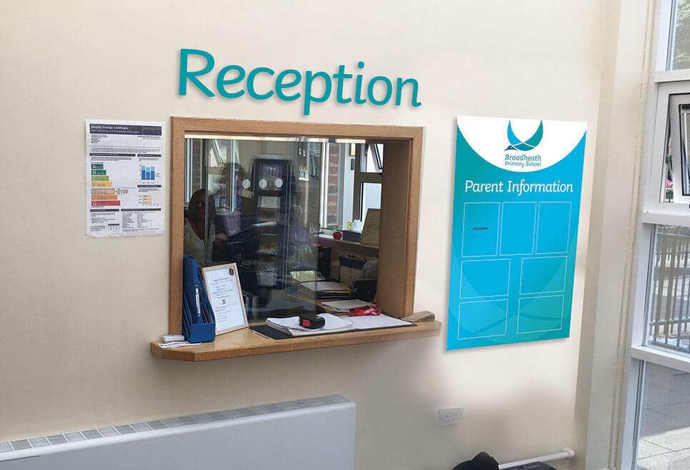 New look reception area