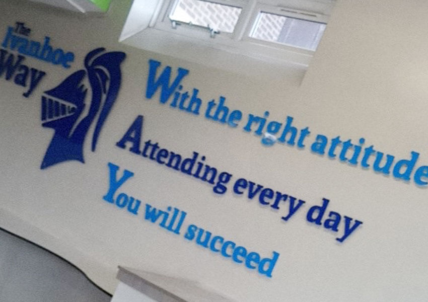 Showing the way with Leicestershire school wall displays
