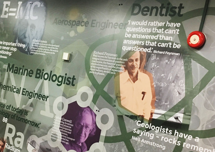 Inspiring wall displays for Birmingham school