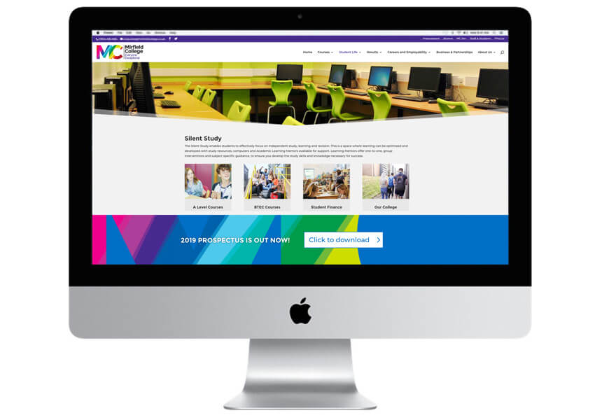 The Mirfield Sixth Form College website is fully compliant with Ofsted and DfE guidelines and has the the built in capability for the site to be expanded as the need arises.