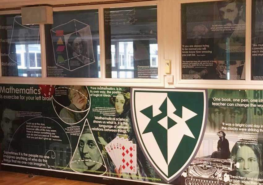We produce interesting and informative graphics for window areas. These displays bring your classroom subject to life.