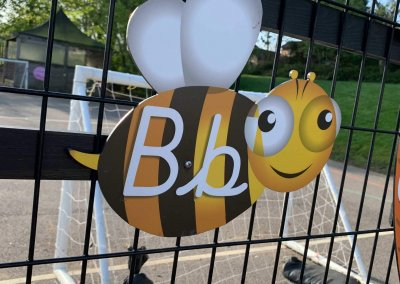 cut out alphabet Bee