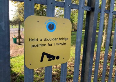 Fitness circuit signage