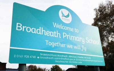 A breathtaking new school branding at Broadheath Primary