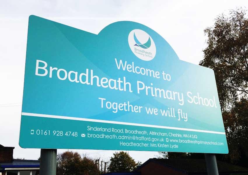 A breathtaking new school branding at Broadheath Primary