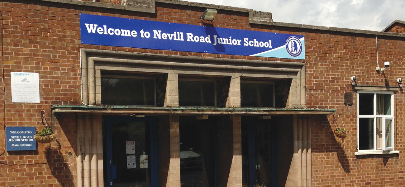 School Signage at Nevill Road