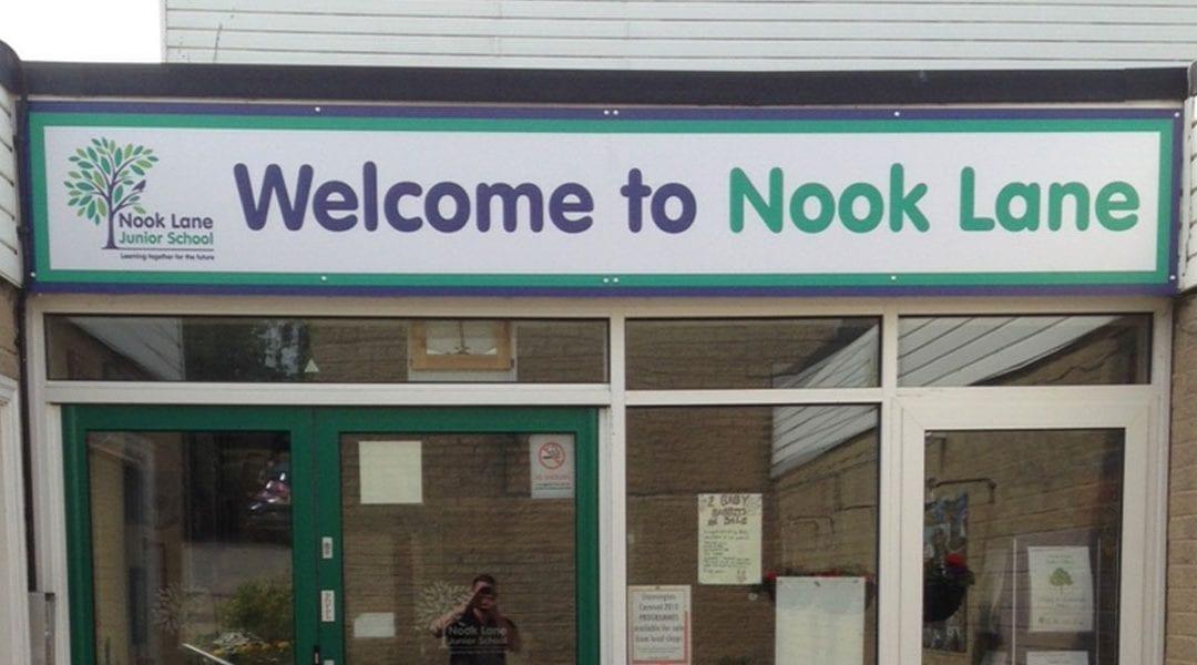 External signs for Nook lane Junior School
