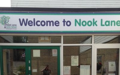 External signs for Nook lane Junior School