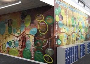 Design for Education school wall art