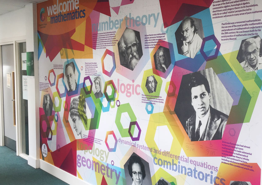 Cheshire College rolls out the curriculum across its walls with our college wall art