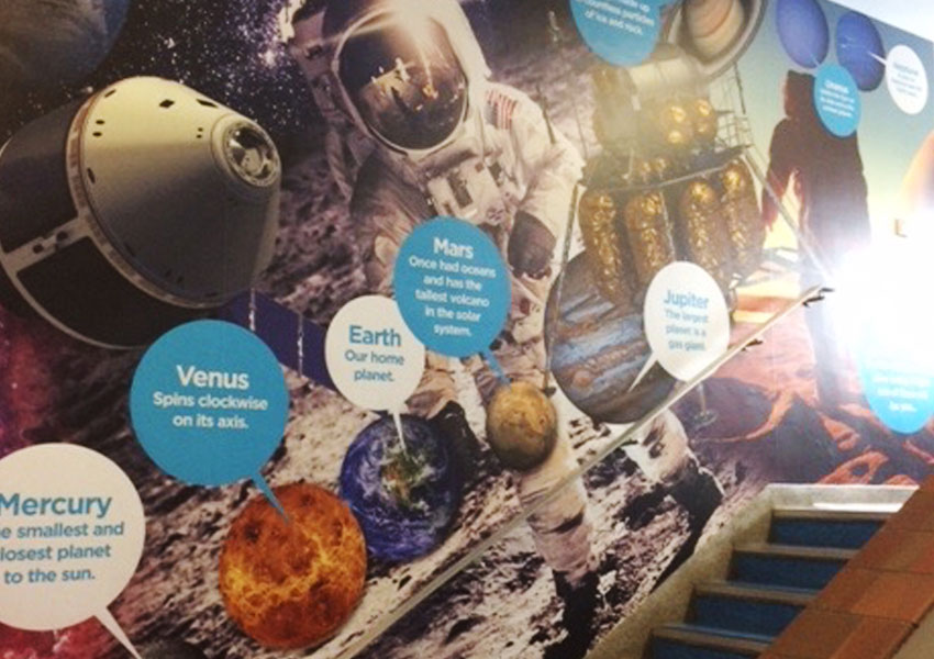 Wall art that is out of this world at the Co-op Academy Bebington