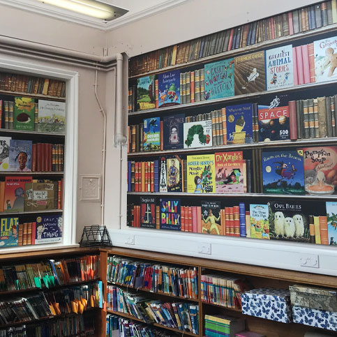 Sit down with a good book and enjoy Rothwell Haigh Road Infant's school library wall art