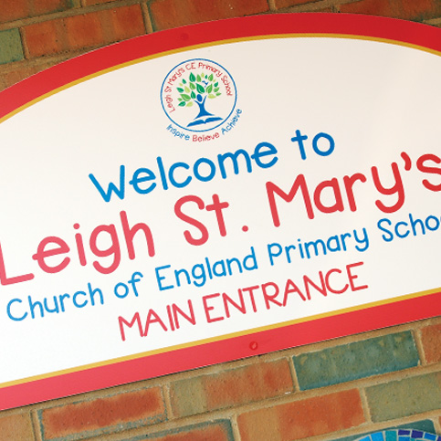 Leigh St Mary's Signage
