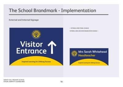 New school badge