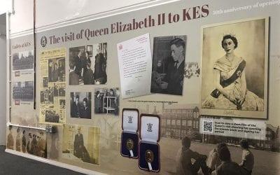 School History Wall Display at King Edward VII Academy